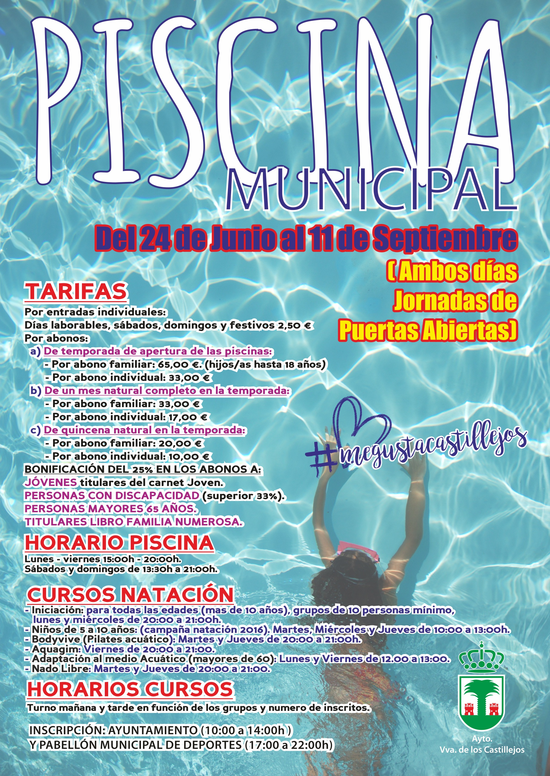 CARTEL PISCINA 2016
